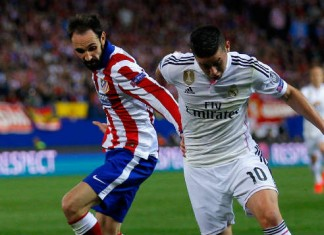 James Rodriguez Champions League Real Madrid - Atletico Madric